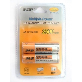 Wholesale MP AA Ni-MH 2500mAh 1.2V Rechargeable Battery