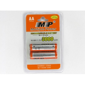Wholesale MP Rechargeable Battery AA Ni-MH 3000mAh 1.2V
