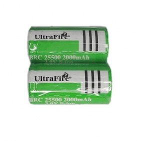Wholesale UltraFire BRC 25500 2000mah 3.0V Li-ion Rechargeable Battery (2 pcs)