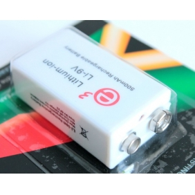 Wholesale Soshine 500mAh 9V Lithium-ion Rechargeable Battery (1pcs)