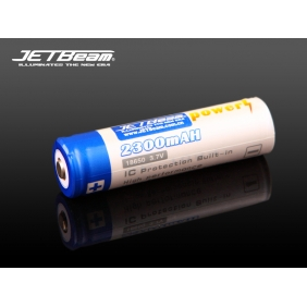 Wholesale JETBEAM 2300mAH 18650 3.7v IC Protection Built-in Li-ion Rechargeable Battery ( 1pc)