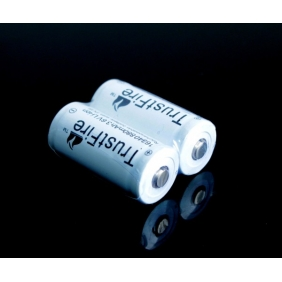 Wholesale Trustfire 16340 880mAh 3.6V Protected Li-ion Rechargeable Battery(2pcs)