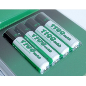 Wholesale Soshine 1100mAh Ni-MH Rechargeable AAA Batteries with Case (4-Battery Pack)