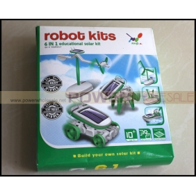 Wholesale 6 in 1 Educational Solar Robot Kit