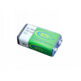 Wholesale BTY-9V Ni-MH Battery Rechargeable 9V 300mAh