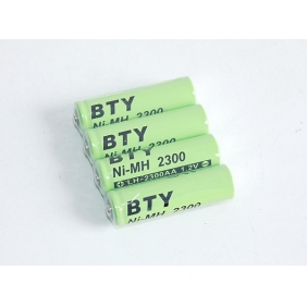 Wholesale BTY Rechargeable Ni-MH AA Battery 2300mAh 1.2V 4 Pcs