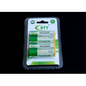 Wholesale BTY AA 2500mAh 1.2V Rechargeable NIMH Battery (4pcs/pack)
