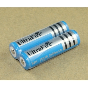 Wholesale Blue UltraFire 18650 2600mAh 3.7V Protect Rechargeable Battery(2pcs)