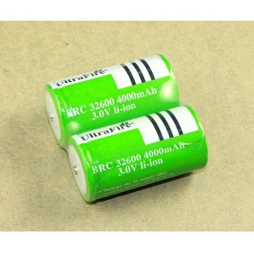 Wholesale UltraFire BRC 32600 4000mah 3.0V Li-ion Rechargeable Battery ( 2 pcs)
