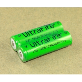 Wholesale UltraFire green XSL18650 2600mAh 3.7V Rechargeable li-ion Battery (2 pcs)