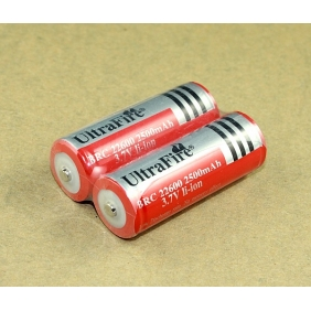Wholesale UltraFire BRC 22600 2500mah 3.7V Protected Li-ion Battery (2 pcs)