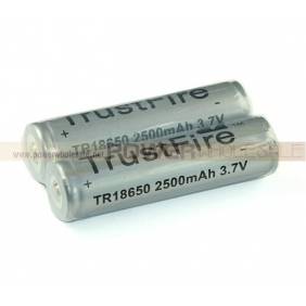 Wholesale TrustFire 3.7V 2500mAh 18650 Protected Rechargeable Li-ion Battery (2pcs)