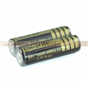 Wholesale UltraFire 4000mAH Protected Rechargeable 3.7V 18650 Li-ion Battery (2 pack)