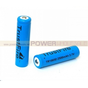 Wholesale Trustfire TR18650 2500mAh 3.7V Protected Li-ion battery(2pcs)