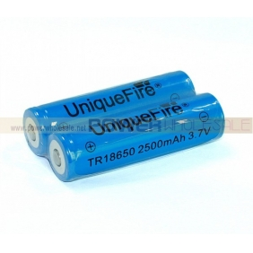 Wholesale UniqueFire TR 18650 2500mAh 3.7V Rechargeable Li-ion Battery(2pcs)