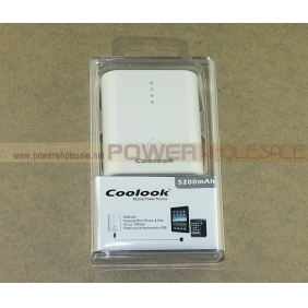 Wholesale Mobile Power for iPhone iPad Tab Xoom flyer 5200mAh |E5200
