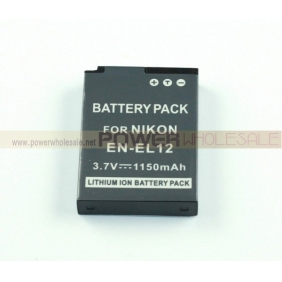 Wholesale 1150mAh Battery for EN-EL12 EL12 Nikon Coolpix S610 S6