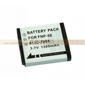Wholesale 1300mah li-ion battery for FNP-50 KLIC-7004