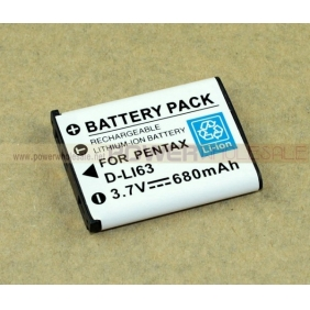 Wholesale Pentax Digital Camera Battery Pack D-LI63, DL-i63, D-L163