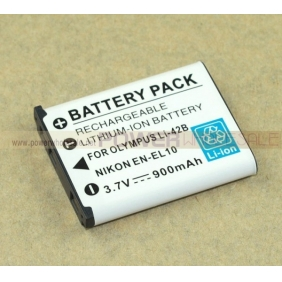 Wholesale Rechargeable Lithium-ion Camera battery for OLYMPUS lI-42B, NIKON EN-EL10