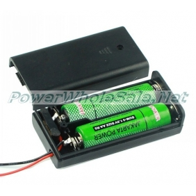 Wholesale Protecting 2*1.5V 2AA battery holder box/case