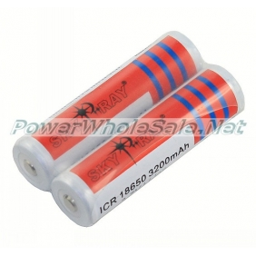 Wholesale SKY RAY ICR 18650 3200mAh 3.7V Li-ion Protected Battery (2 pcs)