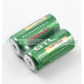 Wholesale GTL LR123A 3.6V 2000mAh Green Protected Li-ion Battery(2pcs)