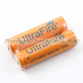 Wholesale UltraFire 14500 Battery 3.6V 900mAh