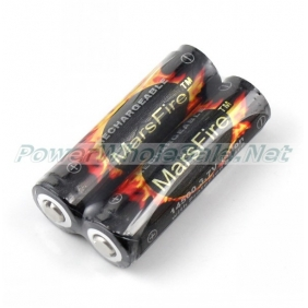 Wholesale Marsfire 14500 Battery 3.7V Lithium 900mAh rechargeable Flashlight Protected Battery( 2pcs)