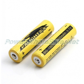 Wholesale PALIGHT18650 3000mAh 3.7V Li-ion Rechargeable Battery (2pcs)