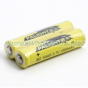 Wholesale PALIGHT BG Battery 10440 Rechargeable Li-ion Battery 1000mAh (2pcs)