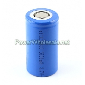 Wholesale ICR32600 5000mah 3.7V Li-ion Rechargeable Battery(2pcs)