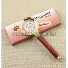 Wholesale 36mm Classic Metal Frame Wood Handle Magnifier