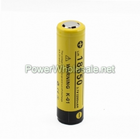 Wholesale Klarus K-01 18650  2200mAH Protected battery--yellow