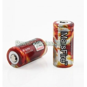 Wholesale MarsFire16340 900mAh 3.7V Protected Li-ion Battery(2pcs)