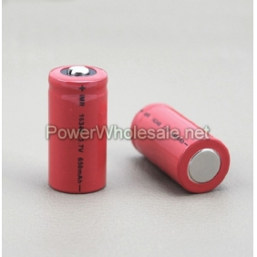 Wholesale IMR battery 16340  3.7V li-Mn  650mah  e-cigs/ mods battery (1pc)