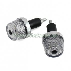Wholesale Motorcycle Handlebar Hand Grips Plug End Flash Lamp (2pcs)