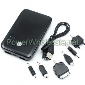 Wholesale 5000mAh Double USB for Output Sockets Portable Mobile Power Supply