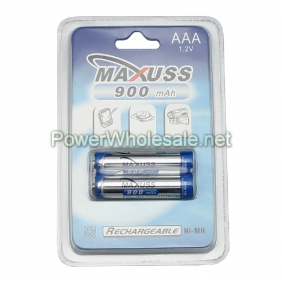 Wholesale MAXUSS AAA 900mAh 1.2V batttery(2pcs)