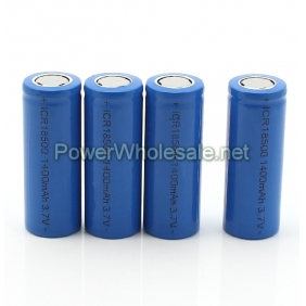Wholesale Flat top ICR 18500 1400mah 3.7v rechargeable li-ion battery(2pcs)