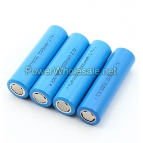 Wholesale Flat top ICR 18650 1500mah 3.7v rechargeable li-ion battery(2pcs)