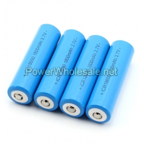 Wholesale Button Top Li-Ion ICR18650 3.7V 1800 mAh rechargeable battery ( 2 pcs)