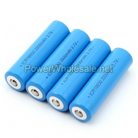 Wholesale Button Top Li-Ion ICR18650 3.7V 2000 mAh rechargeable battery (2 pcs)