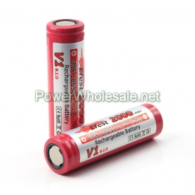 Wholesale Efest IMR 18650 2000mah 3.7V LiMn Battery with Flat top / e-cigs and mods battery (1pc)