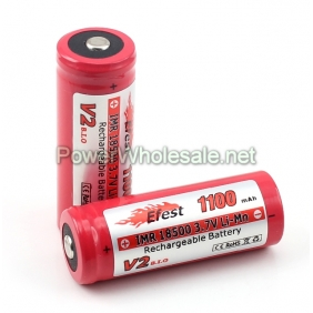 Wholesale Efest IMR 18500 1100mah 3.7V LiMn Battery with Button top / e-cigs and mods battery (1pc)