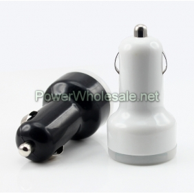 Wholesale CH202S Dual USB Car charger 5V 2.1A/1A with Black / White