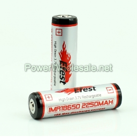 Wholesale Efest IMR 18650 2250mAh 3.7V High Drain Li-Mn Battery with Button top (1pc)