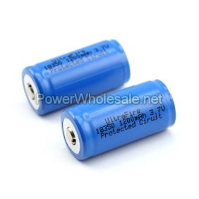 Wholesale The Newest Ultrafire 18350 3.7v 1200mAh Protected 3.7v Ciruit Battery(2pcs)