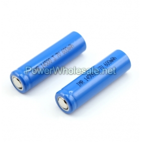 Wholesale IMR 14500 3.7v 600mah Rechargeable Battery(2 pcs)