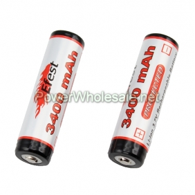 Wholesale The Newest Efest 3400mAh Protected Li-ion 3.7v Rechargeable battery(1pcs)